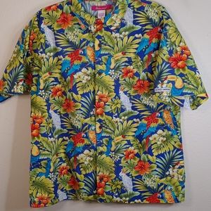 Vintage Key West Camouflage Tropical Butto…